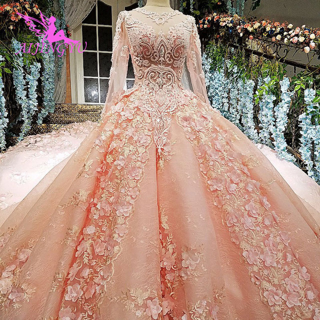 AIJINGYU Cucire Abito Da Sposa Semplice Abiti di Sfera Del Merletto Dubai Nuovo 2021 2020 Weddimg Abiti Negozi Cina Occidentale Da Sposa Abito Da Sposa