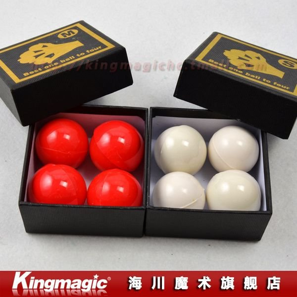 Best One Ball To Four White Or Red Soft Rubber Multiplying Balls Magic Tricks Magic Sets Magia Props Free Shipping