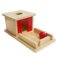 Montessori Sensory Toys Object Permanence Ball Box Montessori Educational Wooden Toys For Children Juguetes Sensorials E2464H