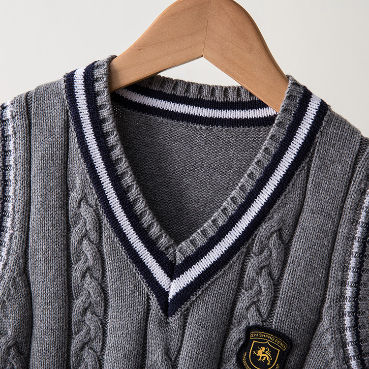 VIDMID-Hot-Sale-Autumn-Winter-V-neck-Baby-Boys-Knitted-Vest-Cardigan-School-Uniform-Style-Sweater-Childrens-clothing-7016-02-5