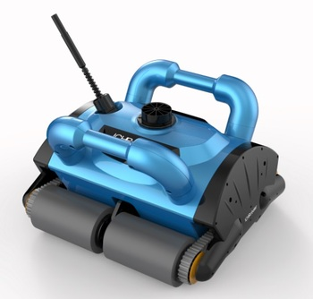 Limpiador de piscina robótico con cable de 15 m, aspiradora de robot de piscina, equipo de limpieza de piscina con carrito y CE ROHS SGS