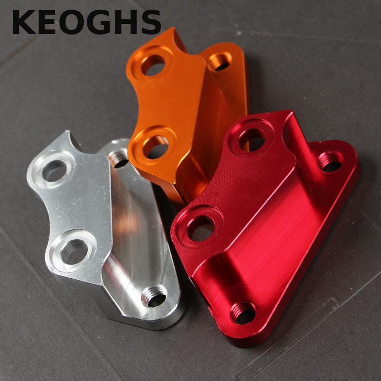 Keoghs Motorcycle Brake Caliper Bracket/adapter Cnc Aluminum For Yamaha Cygnus Zr To Modify 220 Brake Disc And 4 Piston Caliper keoghs motorcycle rear hydraulic disc brake set diy modify cnc rpm brake pumb for yamaha scooter dirt bike motorcross motorbike