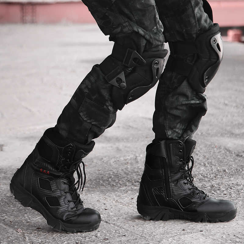 3c3d7dbbdc7 Cungel Big Size 39-47 Desert Tactical Men's Boots Wear-resisting Army Boots  Men Waterproof Outdoor Hiking Men Combat Ankle Boots