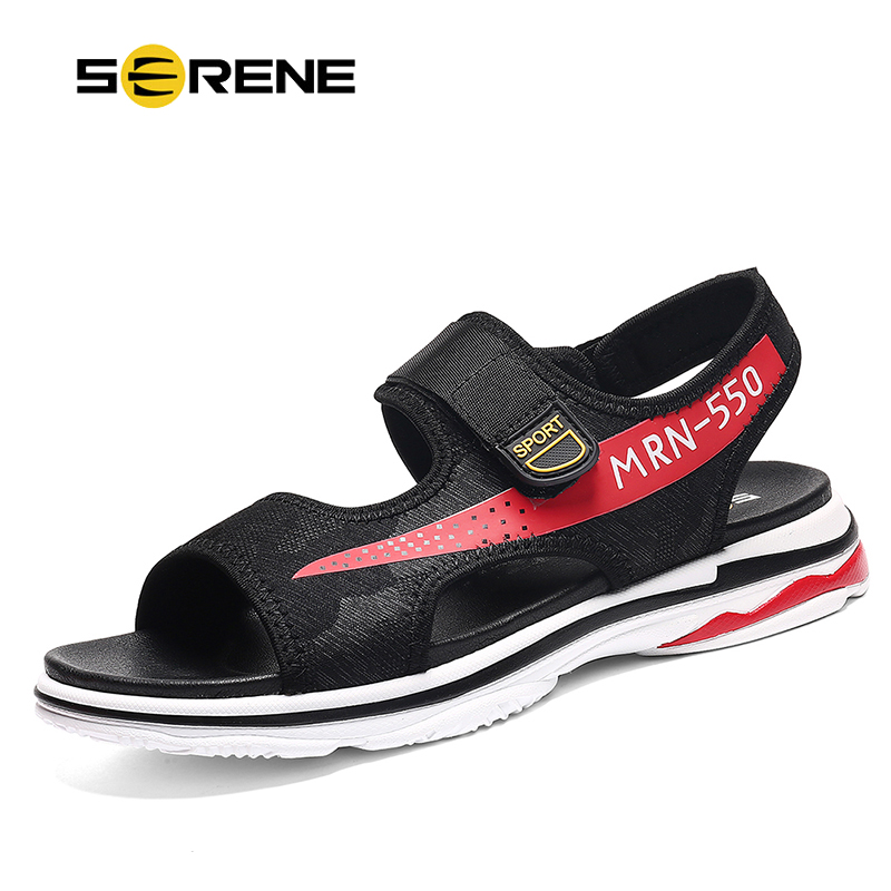 SERENE Brand INS 550 Hot Sale Lovers Sandals Fashion Shoes Men Casual Band High Top Summer Mesh Black Sandalias Beach Mens Shoe