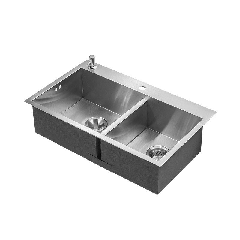 Free shipping Standard individuality kitchen manual sink double groove food grade 304 stainless steel durable hot sell 80x48 CM hot sale cola vending machine 4 valves and three different flavors with 304 stainless steel food grade free shipping by sea