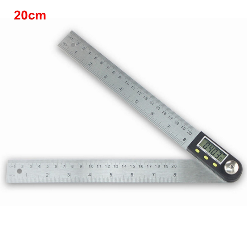 Electronic Angle Instruments : Mm electronic angle meter gauge stainless steel digital
