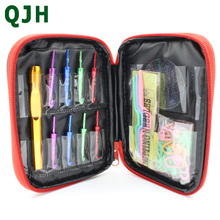 New QJH Brand 33pcs/set 3.0-7.0 Aluminum Change Head Detachable Crochet Leather Case Comes With The Accessories