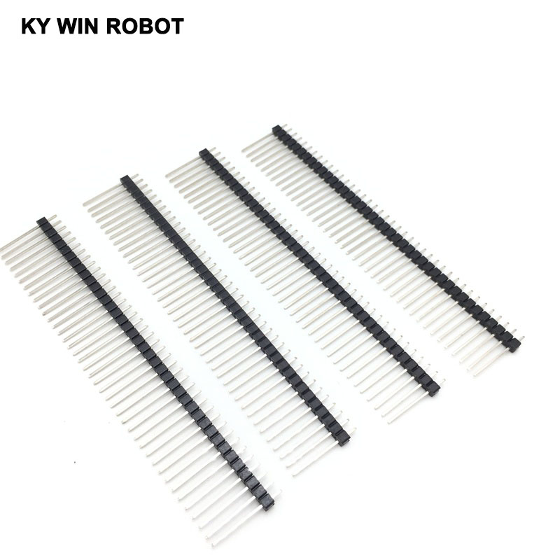 10PCS Single Row Male 1*40 40Pin 2.54mm 1X40 19mm Height Long Breakable Pin Header 10pcs 40 pin 20mm single row male breakable pin header connector for arduino 1x40 2 54mm straight pcb diy