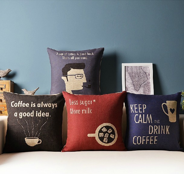 Literary Style Nordic Simple Coffee Cushion Linen Pillow Cushions Delectable How To Decorate Sofa With Pillows