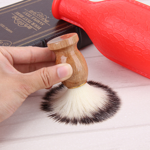 Image 4 - גירית שיער גילוח של גילוח מברשת סלון גברים פנים זקן ניקוי מכשיר גילוח סגנון כלי גילוח מברשת עם עץ ידית עבור גברים