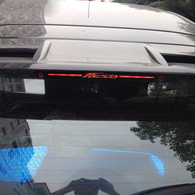 Image 2 - Carbon Fiber Stickers And Decals High Mounted Stop Brake Lamp Light Car styling For Ford Fiesta Hatchback 2009 2015 Accessories-in Car Stickers from Automobiles & Motorcycles