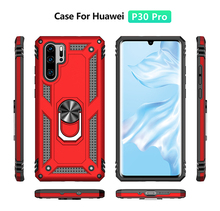 Get more info on the LSDI Phone Case for huawei P20 lite P30 Pro lite P Smart (2019) Luxury  Shockproof Case Car Holder Grip Ring Case 2 in 1 case