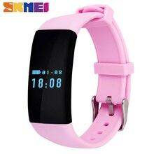 Skmei moda smart watch señoras smartwatch podómetro sleep monitor de frecuencia cardíaca resistente al agua ios android mujeres relojes deportivos d21