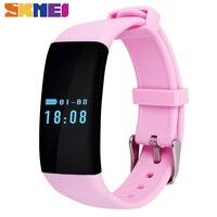 Skmei moda smart watch smartwatch krokomierz snu pulsometr wodoodporne panie ios android kobiet zegarki sportowe d21