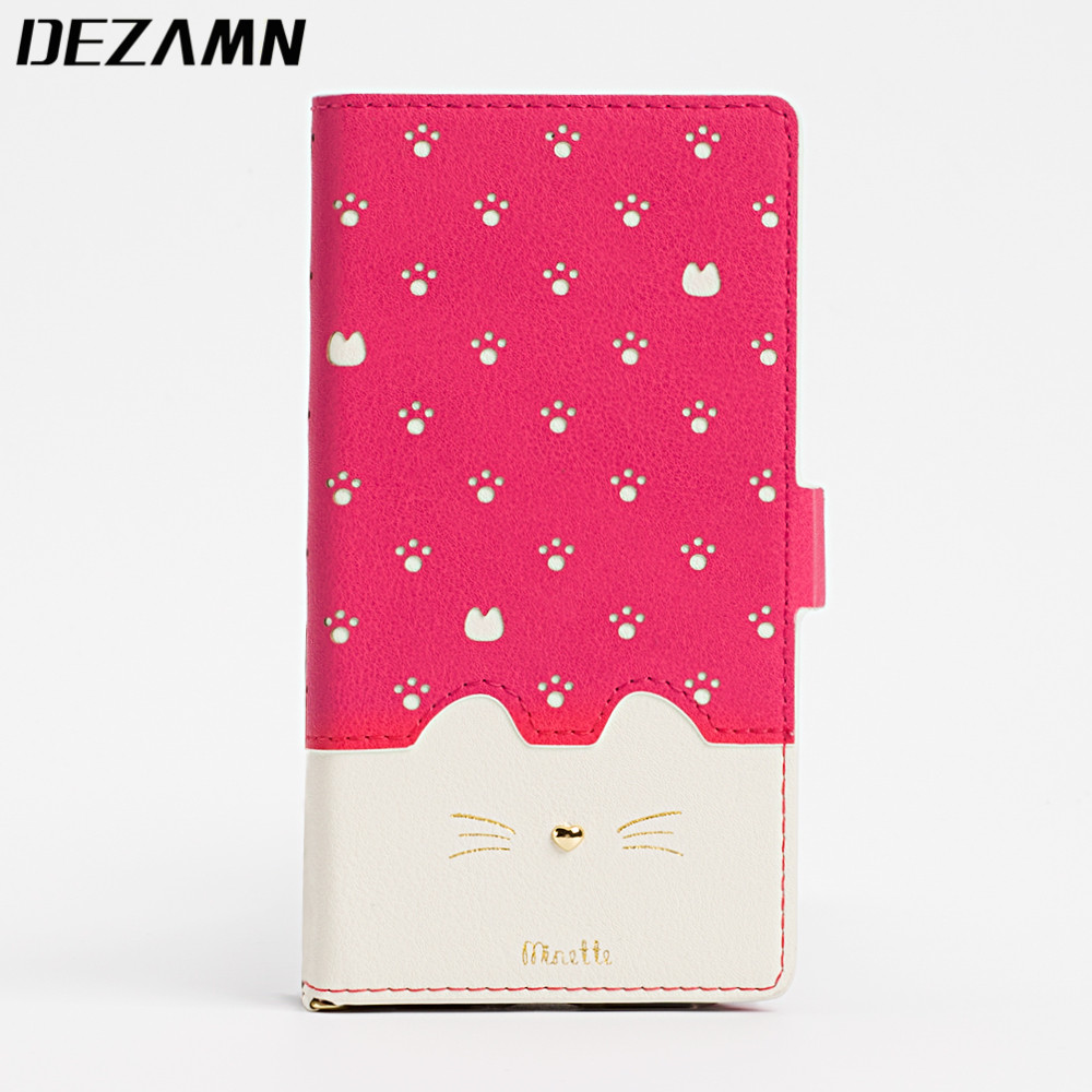 Leather Wallet Case For iPhone 7 Case Women Girls Cute Cat Face Phone Bag Case For iPhone 6 6S 7...  iphone 7 cases for women | Top 10 iPhone 7 Cases! (Cute Edition for Girls)! Leather Wallet font b Case b font font b For b font font b iPhone b