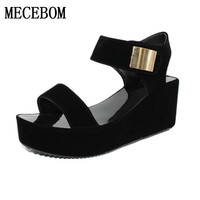 2017 Platform Sandals Shoes Women High Heel Wedges Shoes Open Toe Platform Gladiator Trifle Sandals Women