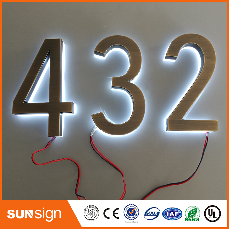 Classic Design LED House Numbers Size H200MM Warm White LED