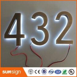 Diseño clásico LED números de casa tamaño H200MM blanco cálido LED
