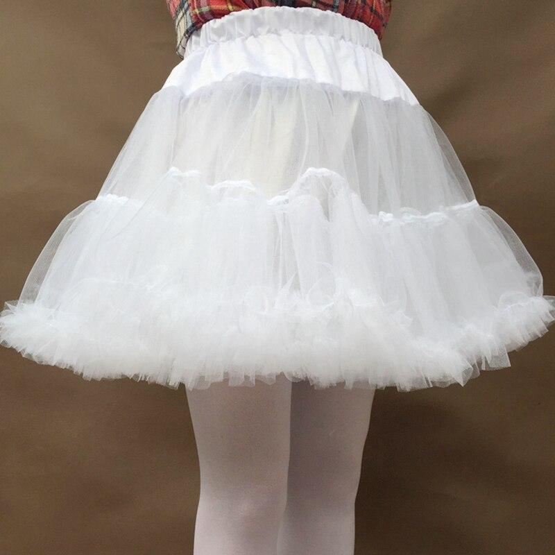 Eraspooky Anime Cosplay dress Short Underskirt women Tutu Dress crinoline Girls White hoops