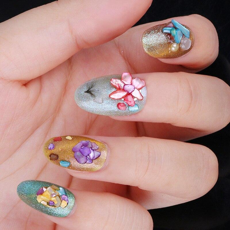 Beautiful Natural Sea Texture Shell 3d Glamour Nail Art Decoration