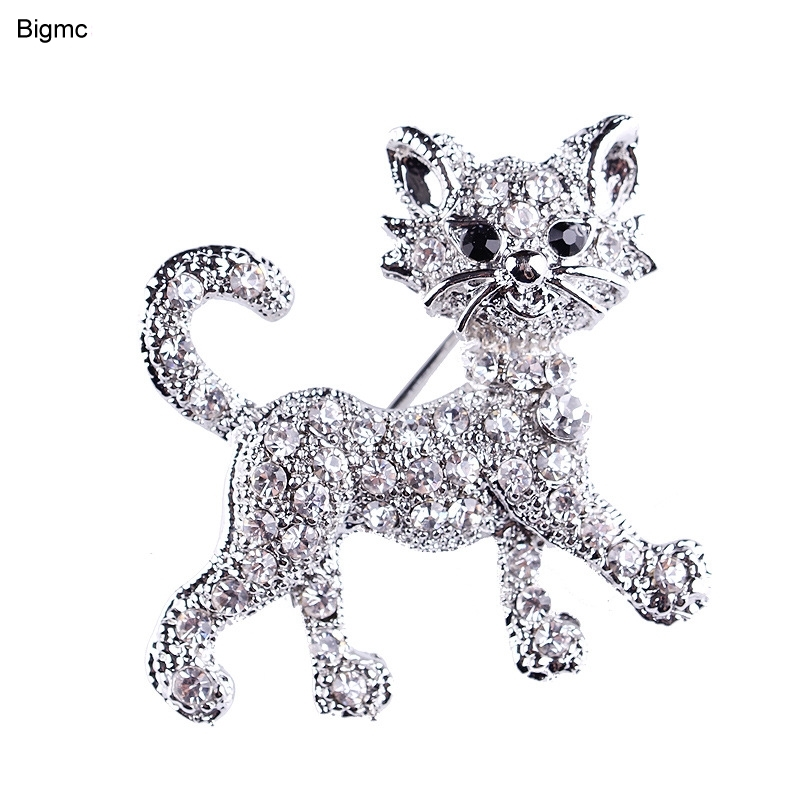 Cat Brooch - Cute Little Cat Brooch Pins Up Jewelry For Women Suit Hats Clips Brooches For Men Women Gift H1079