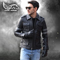 FREE SHIPPING 2017 New Games Resident Evil Leon Black Leather Jacket Genuine Cowhide Fashion Casual Slim Fit Men Winter Coat