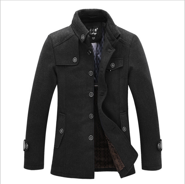 2014 winter apparel brand wool jacket men new fashion mens for Mens red wool shirt