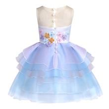 Cute Embroidery Baby Girls Unicorn Dress