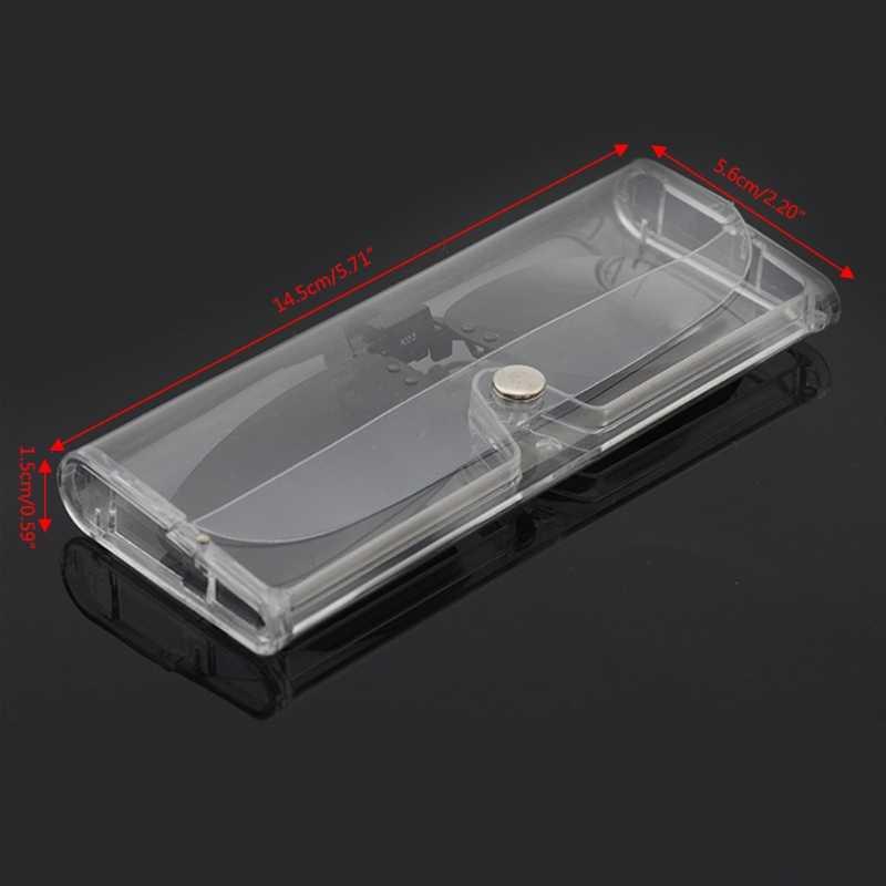 Stylish Transparent Eye Glasses Sunglasses Soft Case Box Portable Protector Holder New
