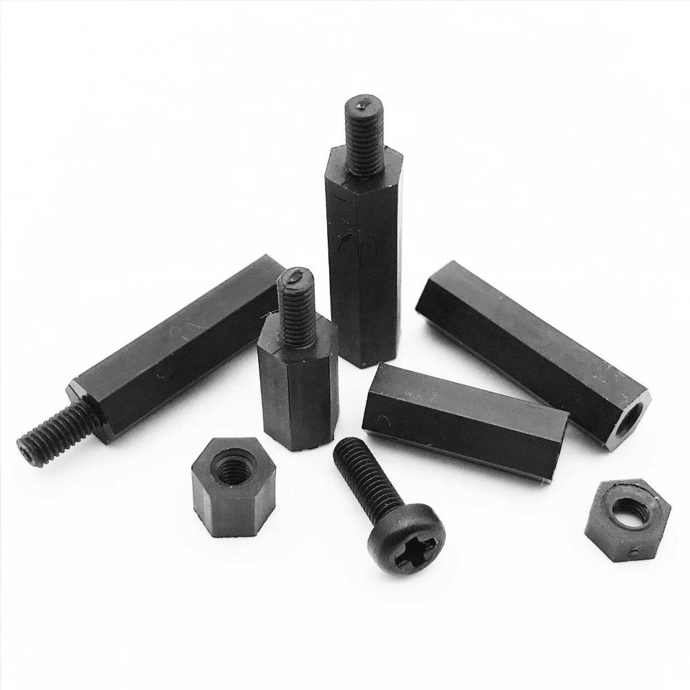 150 x M2.5 x 35mm NYLON PILLAR M//F INSULATION SPACER STAND OFF male to female