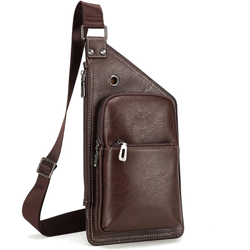 2018 New Fashion Men Crossbody Bags Vintage Chest Bag Summer Bag Men Chest Pack Single S ...