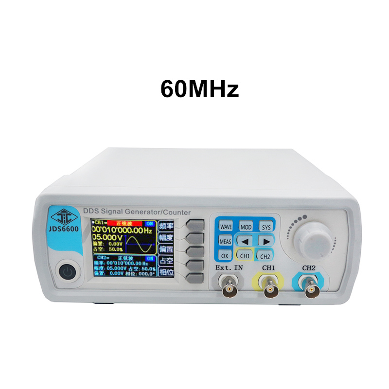 JDS6600 60MHz LCD Digital Control Arbitrary Wave DDS Signal Generator Pulse Signal Source Meter 40 off