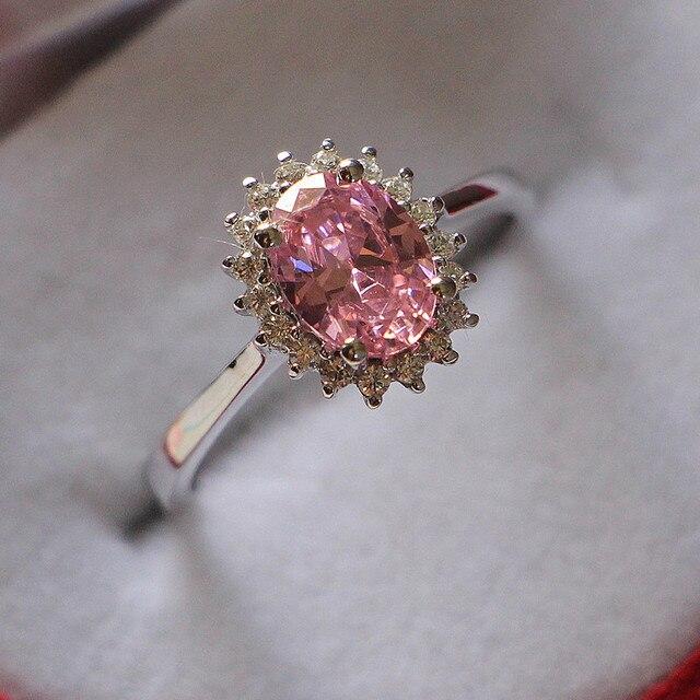 White gold au750 jewelry 2ct oval cut pink diamond ring for female white gold au750 jewelry 2ct oval cut pink diamond ring for female au750 gold 18k wedding junglespirit Choice Image
