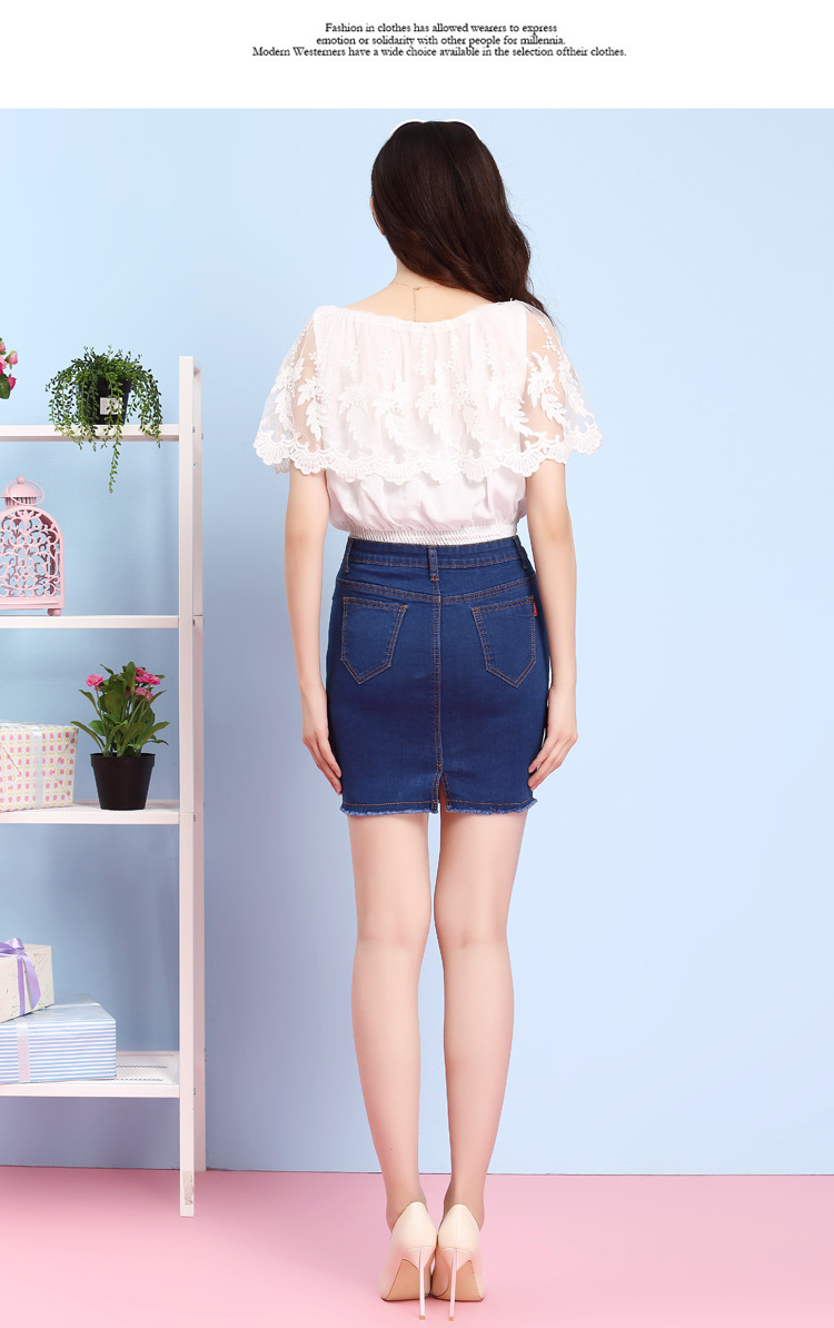 Aliexpress.com : Buy Summer Short Skirt Women Denim Pencil Mini ...