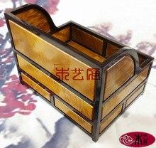 [Правительство] Золото Фиби деревянный ящик для хранения файлов шкафа из красного дерева шкатулка бизнес-идеи подарка украшения