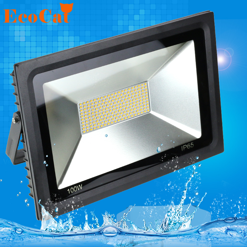 AC 220V <font><b>LED</b></font> Flood Light 15W 30W <font><b>60W</b></font> 100W Waterproof IP65 Reflector <font><b>Led</b></font> <font><b>Floodlight</b></font> Garden Spotlight Outdoor Lamp image