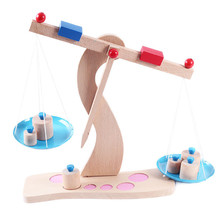 New Wooden Toy Montessori Balance Scale Baby Educational Toy Baby Gift