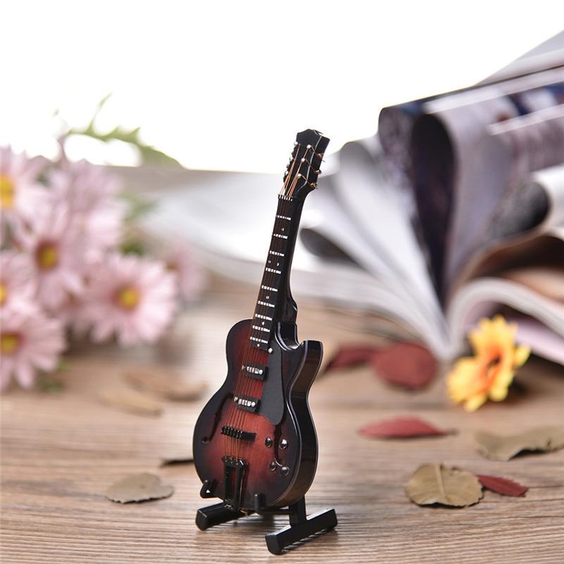 Kreative Mini Elektrische Gitarre Instrument Modell Home Office Schreibtisch  Dekor Besten Geschenk Mini Musikinstrument Modelle Mit Empfindlichen Kasten  ...