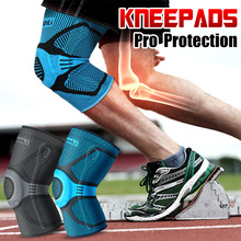 KUNLI  Kneepad sports safety Knee Pads Breathable warmth Training Elastic basketball  Run Support knee protector 1pcs