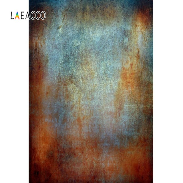 Laeacco Metal Surface Texture Rusty Party Wallpaper Portrait Grunge Photo Backgrounds Photography Backdrops For Photo Studio