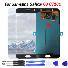 For SAMSUNG GALAXY C8 LCD Display Amoled Touch Screen Digitizer Assembly For SAMSUNG C8 LCD C7100 C710F Replacement Parts for samsung galaxy a9 a9000 lcd display touch screen digitizer assembly white replacement pantalla parts