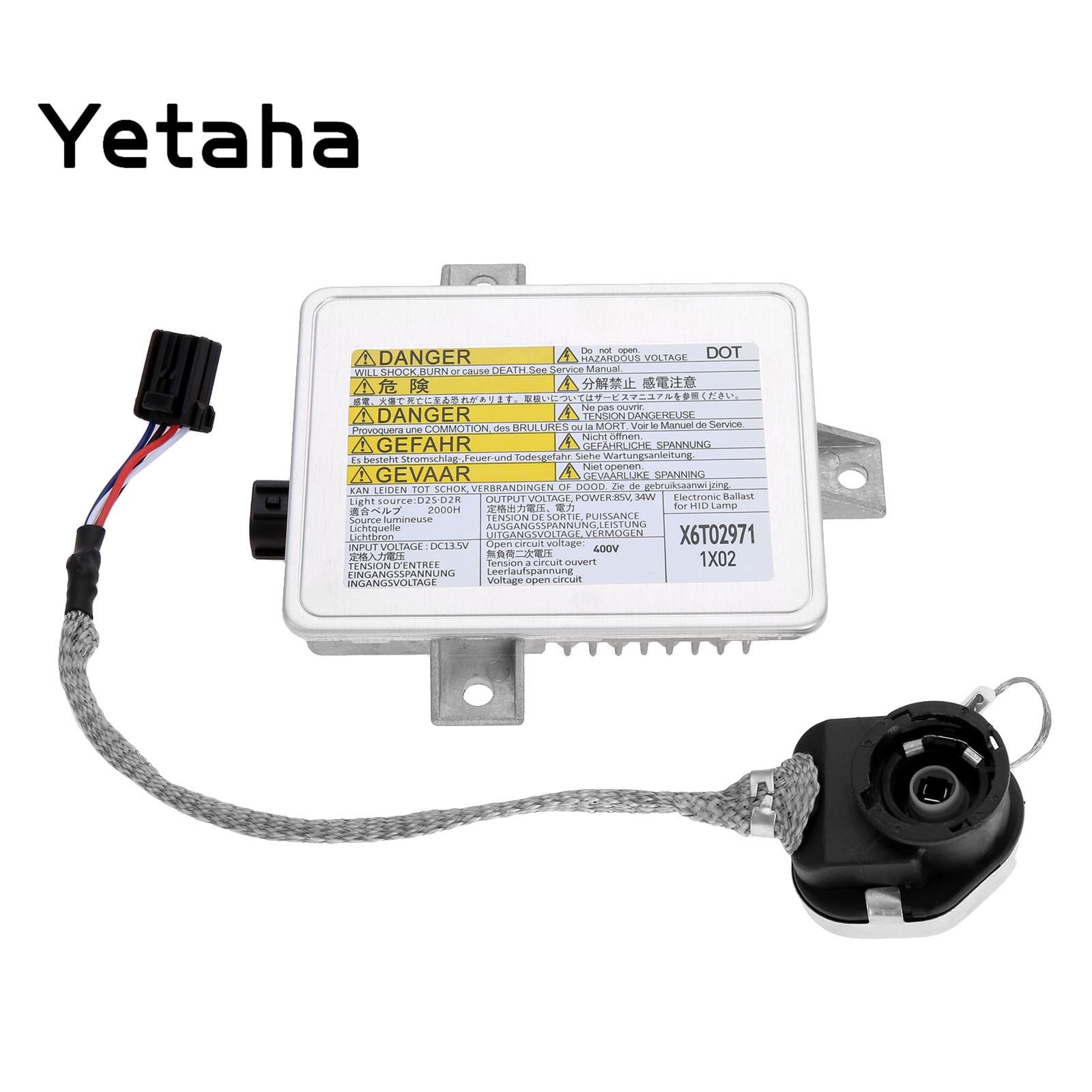 Yetaha D2S D2R Xenon HID Headlight Ballast With Igniter Starter X6T02971 W3T10471 W3T14371 X6T02981 For Acura TSX Honda Mazda 3