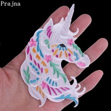 Prajna Unicorn Owl Bird Anime Cute Cat Patch Ironing Stickers Patch Iron On Cheap Embroidered Patches For Kids Clothes Appliques(China)