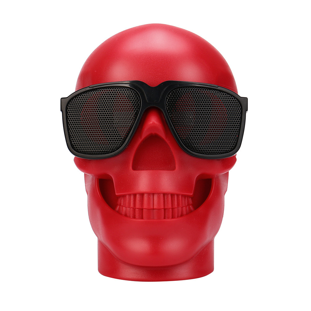 Del Plastic Skull Metallic Wireless Shape Bluetooth Speaker Subwoofer Mobile Speaker td1103 drop shipping