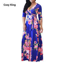 Cozy King plus size s-5xl Fat MM dress women 2018 hot new autumn casual 9a8955bd1288