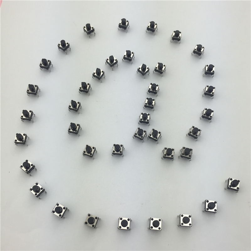 50pcs/lot 6x6x6MM 4PIN G91 Tactile Tact Push Button Micro Switch Direct Self-Reset DIP Top Copper Free Shipping 1pcs r16 504b without lock on off self reset push button switch 2 pin dip