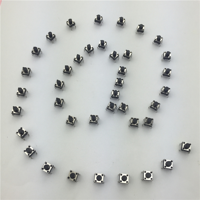 50pcs/lot 6x6x6MM 4PIN G91 Tactile Tact Push Button Micro Switch Direct Self-Reset DIP Top Copper Free Shipping