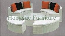 Brown color garden wicker high back sofa set furniture,garden sofa