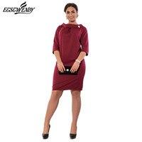 5XL 6XL Large Size Summer 2017 Dress Big Size Elegance Women Red Dress Plus Size Work