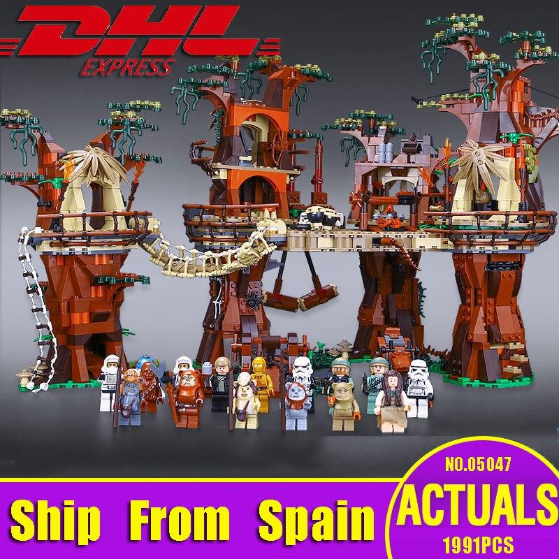 DHL 05047 série Star Wars a 10236 Aldeia Ewok Conjunto Juguete Para Construir Tijolos Blocos Crianças Brinquedos dos Presentes Do Natal
